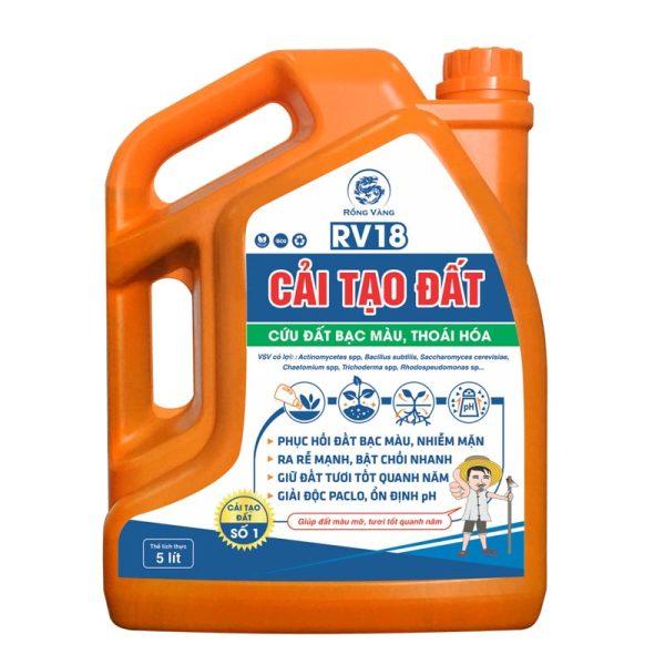 Chế phẩm sinh học RV18 Cải tạo đất - Cứu đất bạc màu, thoái hóa - 5 lít