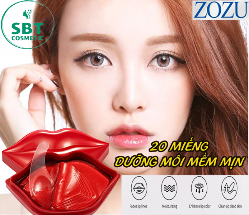[ Hộp 20 miếng] Mặt Nạ Môi ZOZU Chiết Xuất Cherry-Dưỡng Ẩm, Giúp Môi Mịn Màng, Căng Mọng, Chống Nứt Nẻ, Khô Môi Hiệu Quả giá rẻ