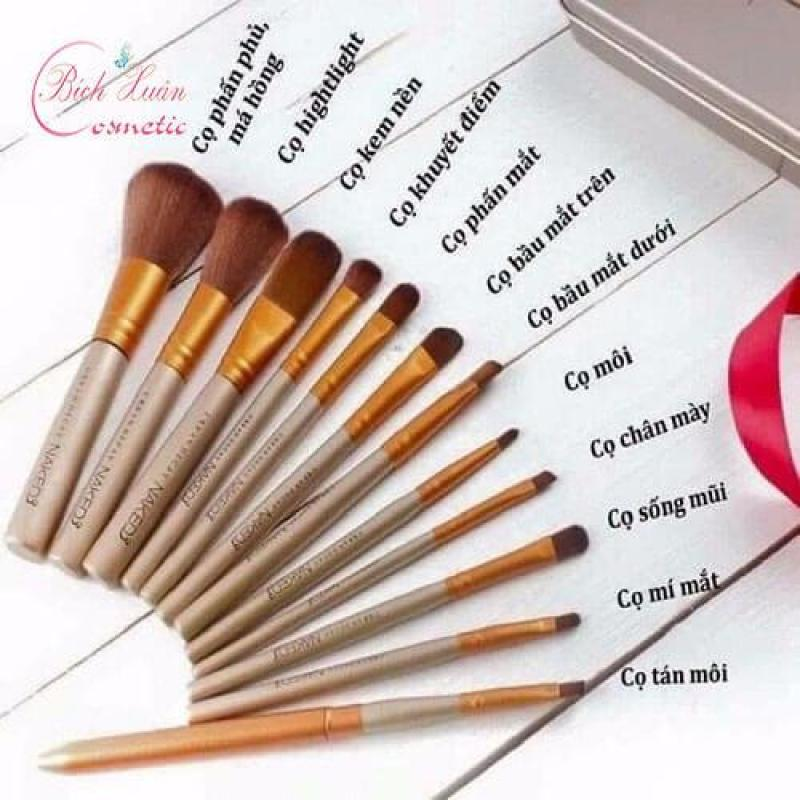 Bộ cọ make up 12 món cao cấp kèm hộp đựng sang trọng