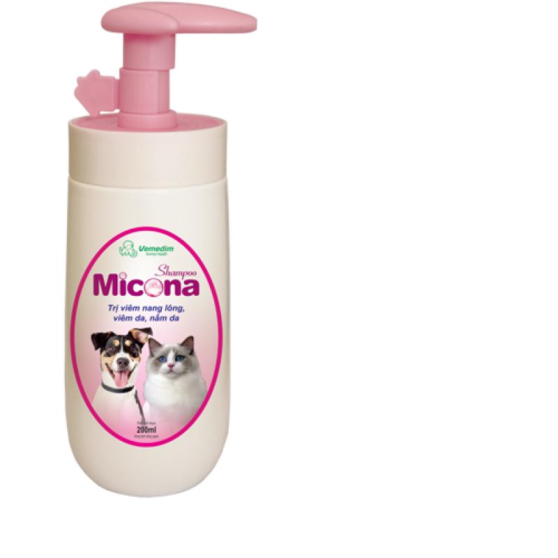 Sữa tắm phòng nấm da, viêm da với mùi hương dịu nhẹ cho chó mèo Micona Shampo, Vemedim