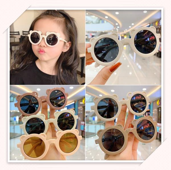 Giá bán Kính mát trang trí chống tia UV hình gấu, đạo cụ chụp ảnh cho bé trai và bé gái đủ màu mã 1601