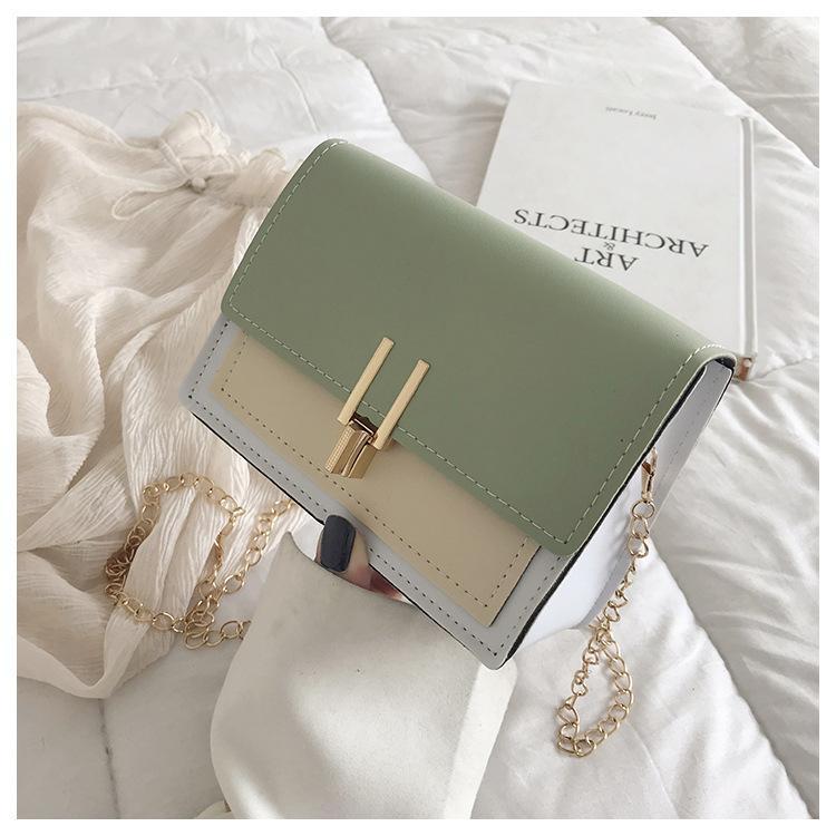 Túi xách nữ trẻ trung phối màu đẹp thiết kế khóa chữ Y ZY390