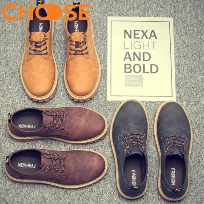 (GIAO HÀNG 24H)Giày Doctor Nam/Boots Màu Nâu Độn 2 Phân Cá Tính 2501 giá rẻ