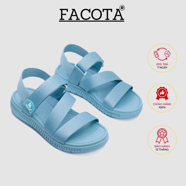 Giày sandal nữ quai dù thể thao chính hãng Facota V1 Sport HA18 sandal học sinh giá rẻ