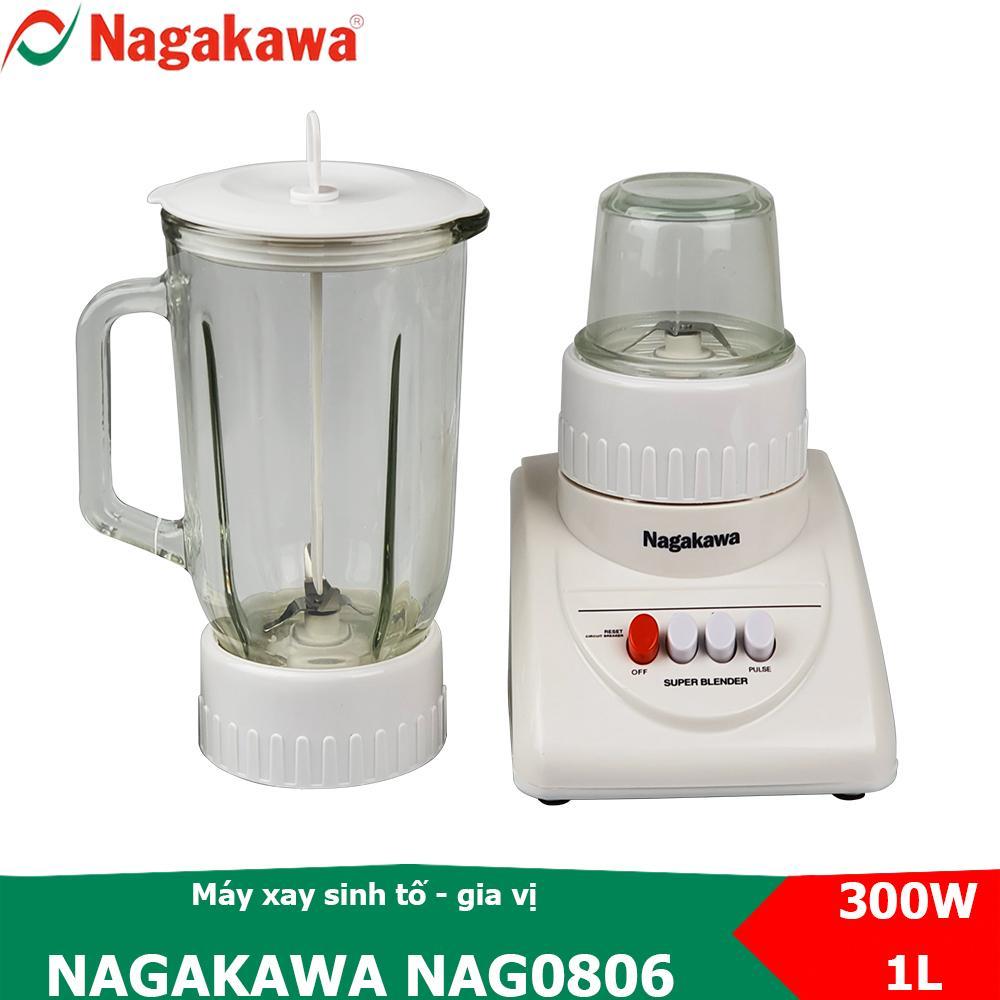 Cơ Hội Giá Tốt Để Sở Hữu Máy Xay Sinh Tố 2 Trong 1, Công Suất 300W Nagakawa NAG0806