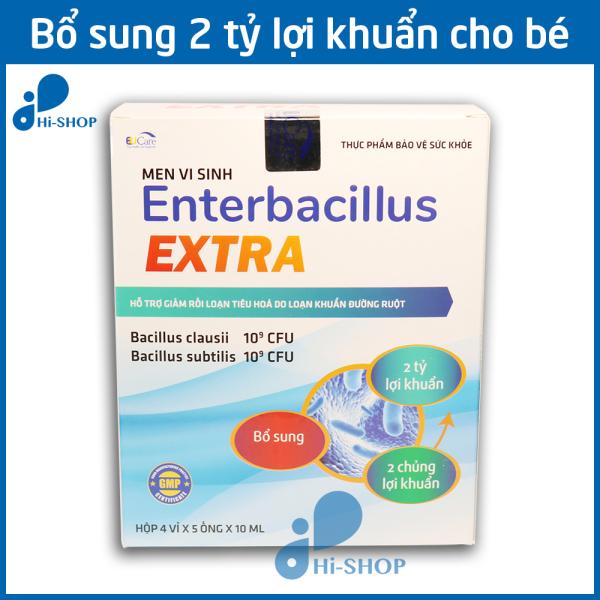 Men Tiêu Hóa Cho Bé Enterbacillus Extra bổ sung 2 tỷ lợi khuẩn, giảm rối loạn tiêu hóa - Hộp 20 ống giá rẻ