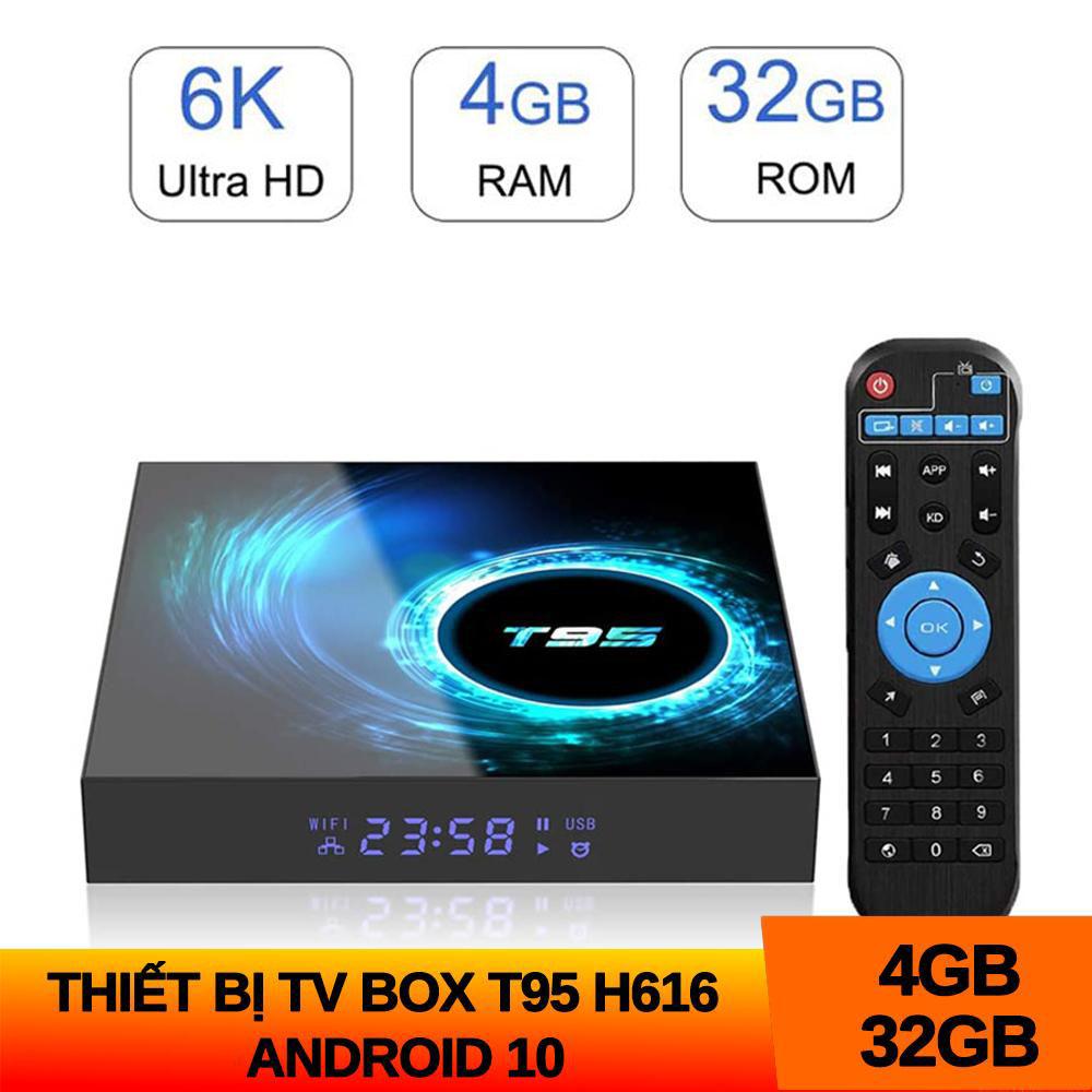 Android Tivi Box T95 H616 Mới 4GB RAM 32GB ROM Android 10 Cài Sẵn Bộ ứng Dụng Giải Trí Miễn Phí Vĩnh Viễn Giá Rất Tiết Kiệm