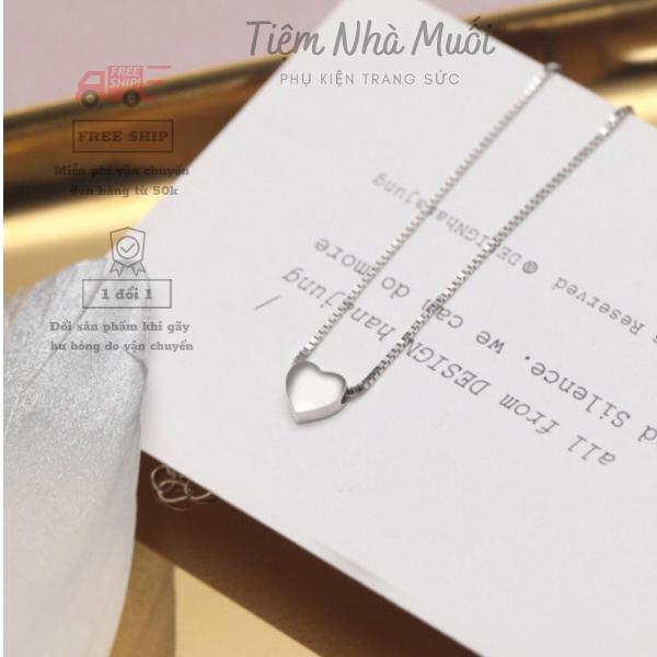Dây chuyền bạc 925 thời trang hàn quốc - vòng cổ choker - dây chuyền kim loại