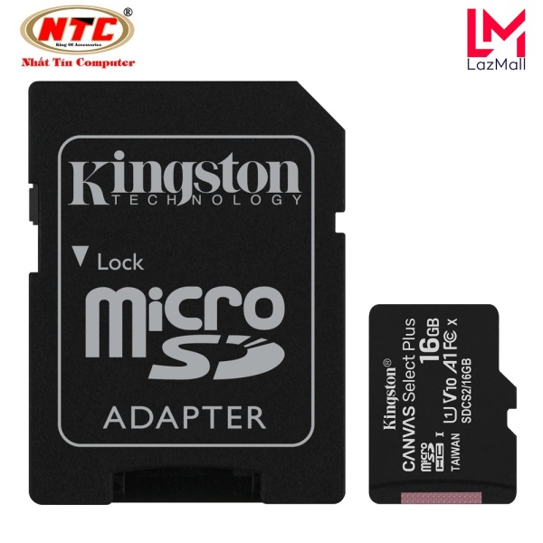 Thẻ nhớ microSDHC Kingston Canvas Select Plus 16GB U1 V10 A1 100MB/s - Kèm Adapter (Đen) - Nhat Tin Authorised Store