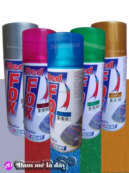 Sơn xịt Redfox 400ml đủ màu chính hãng - Nhập khẩu Thái Lan