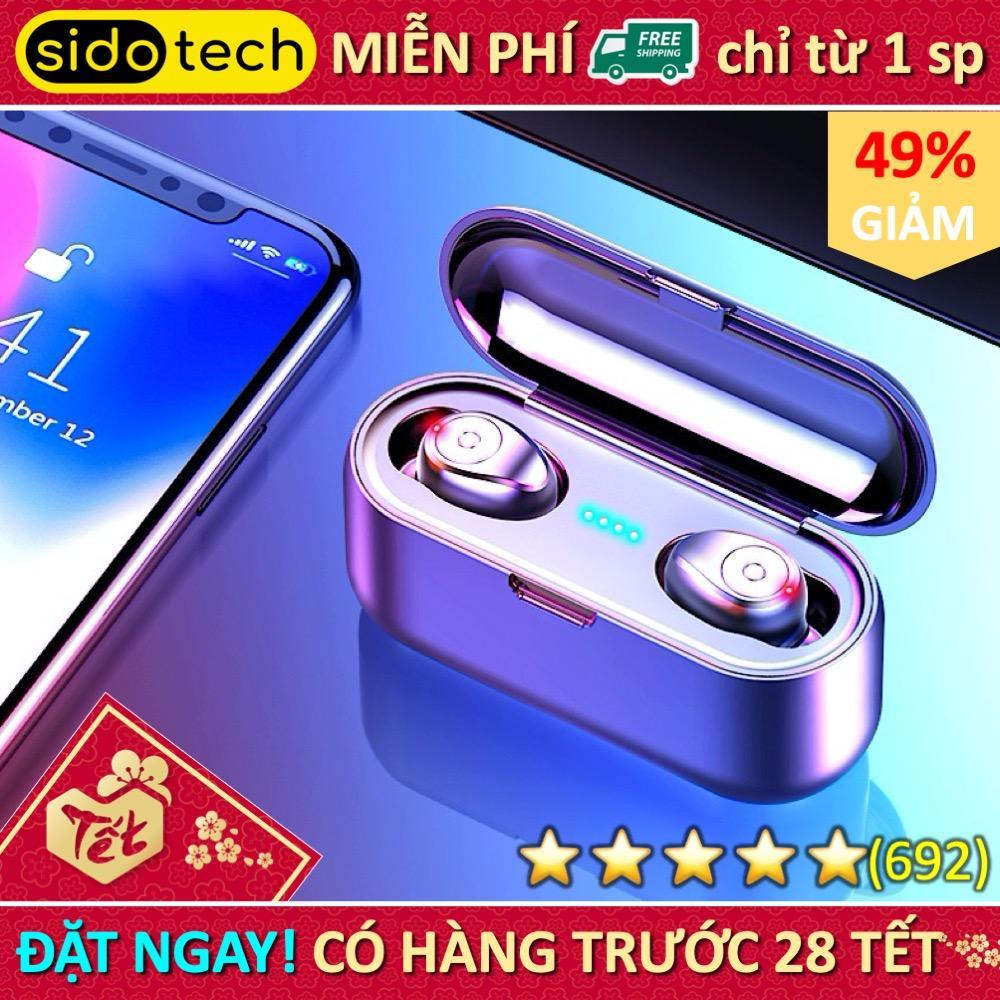 Tai nghe bluetooth khong day 5.0 Amoi F9 pin trâu sạc nhanh, chống nước, với chất âm thanh HiFi TWS True wireless Hifi siêu Bass, micro HD chống ồn tương thích với các dòng điện thoại smartphone