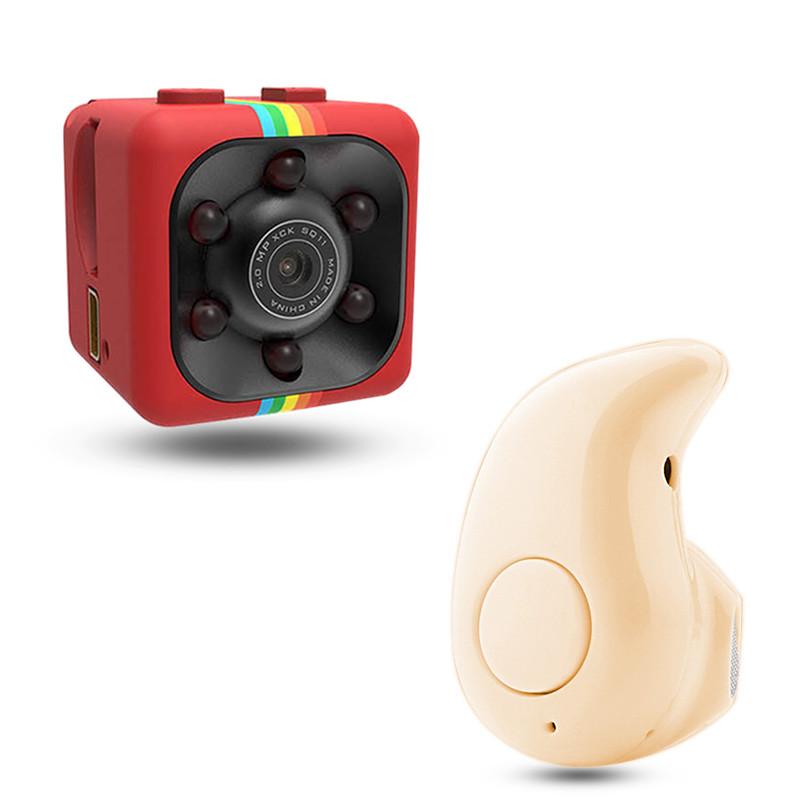 (Đi kèm với tai nghe Bluetooth S530 miễn phí)Camera An Ninh Mini sq11 Chính Hãng, Giám Sát Từ Xa, Chất Lượng Hd 1080P, Hỗ trợ tối đa thẻ nhớ 32GB, Kích Cỡ Siêu Nhỏ Và Dùng Cho Gia Đình
