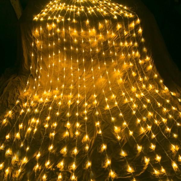 Đèn Rèm Mưa Hiệu Ứng Thác Nước. Bộ Đèn Led Trang Trí Thả Mành Kiểu Mưa Rơi Thác Nước 10 Sợi 2m Đủ Màu