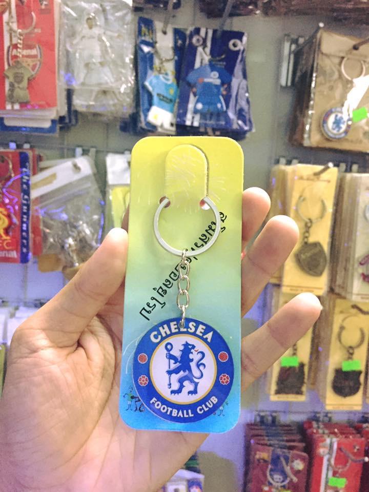 Móc Khóa Nhựa Tròn Clb Bóng đá Chelsea - Barcalona - Real Madrid Cực đep Đang Trong Dịp Khuyến Mãi