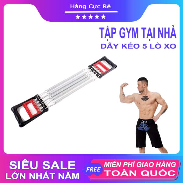 Dụng cụ tập gym – thể dục tại nhà – Dây kéo tay lò xo 5 sợi – Tác dụng kép cho tay ngực bụng săn chắc - Shop Hàng Cực Rẻ