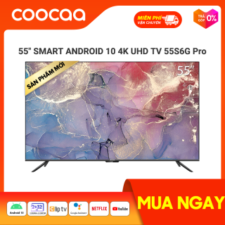 Smart TV Coocaa - model 55S6G PRO android 10.0 4K UHD 55 INCH YOUTUBE Netflix , Prime video 7