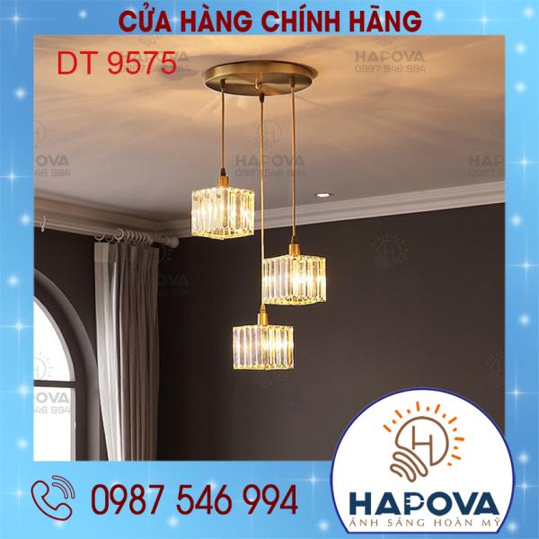 Bộ 03 Đèn thả trần đèn thả bàn ăn pha lê HAPOVA DT 9575