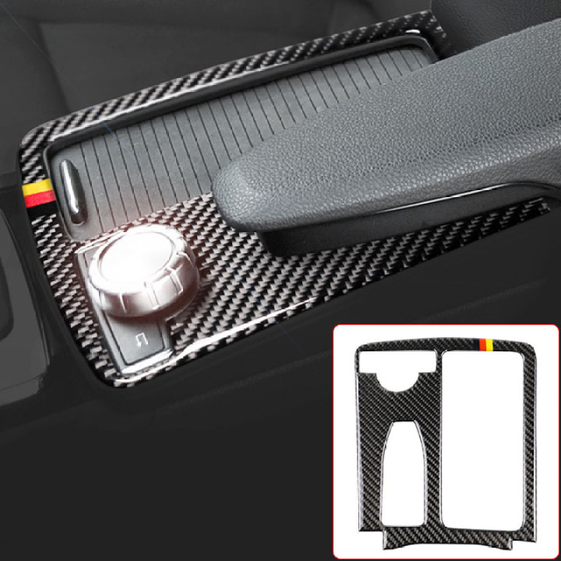 Miếng dán Carbon dán Trang Trí khung Điều Khiển Tay Vịn Cho xe Mercedes-Benz W204