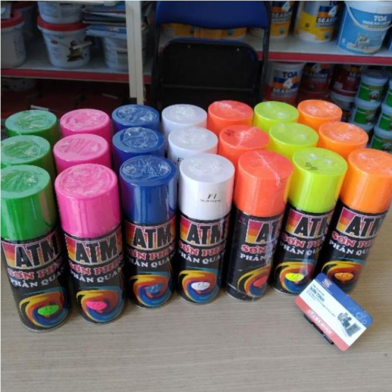 (nhiều màu) SƠN XỊT màu phản quang ATM  400ml
