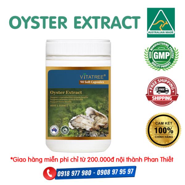 Tinh chất hàu Úc Oyster Extract Vitatree - Cải thiện vấn đề sinh lý yếu, sức khỏe tim mạch, ổn định huyết áp, mỡ máu, cholesterol,... Tăng cường miễn dịch, giảm nguy cơ bệnh tật. Tăng cường sức khỏe và sinh lý nam giới
