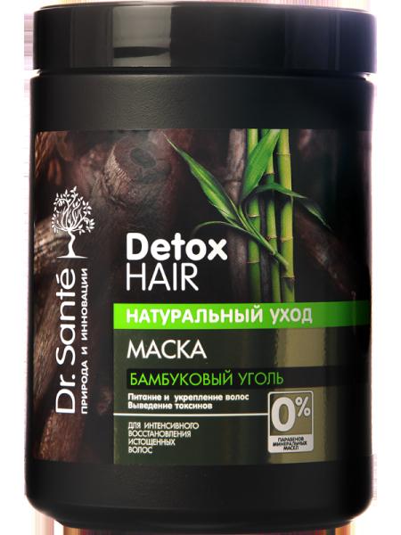 Kem ủ detox tóc và da đầu chiết xuất than tre hoạt tính Dr. Sante Detox Hair 1000 ml