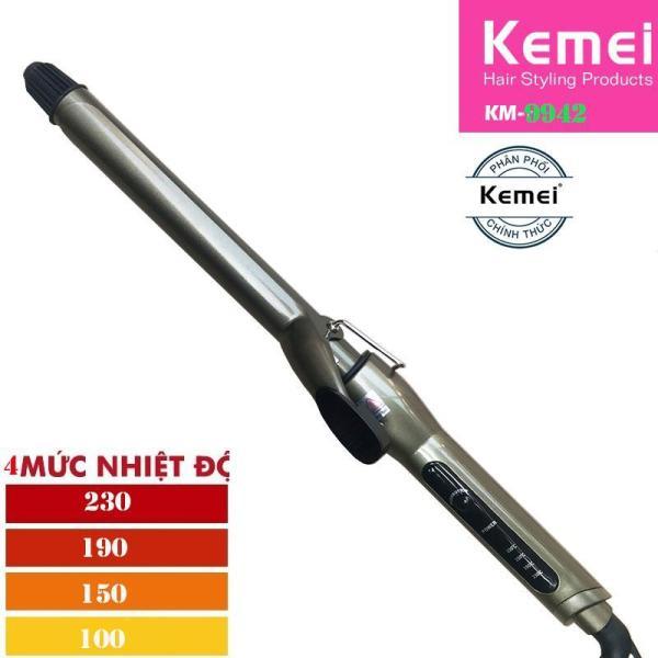 Máy làm xoăn và uốn tóc 4 mức chỉnh nhiệt Kemei 9942 loại 22mm