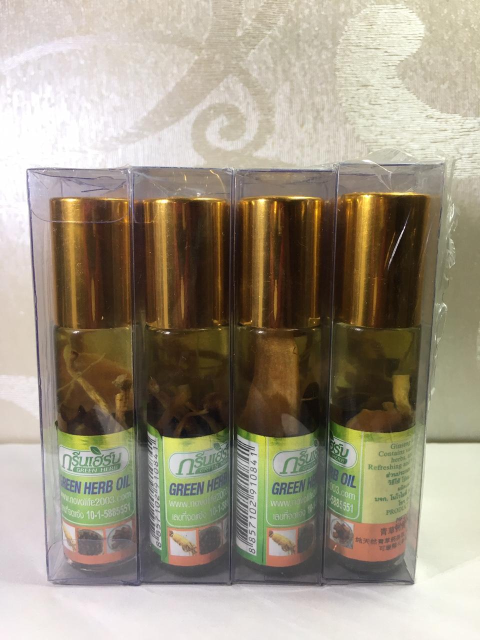 6 chai Dầu lăn Nhân Sâm Green Herb Oil - Thái Lan