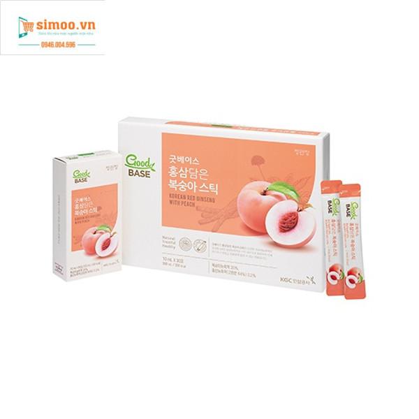 Nước Hồng sâm & Đào Good BASE (10ml * 30 gói) KGC Cheong Kwan Jang Hàn Quốc giúp ngăn ngừa lão hóa, phù hợp với người ăn kiêng. giá rẻ