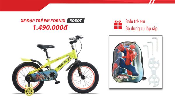Giá bán Xe đạp trẻ em Fornix Robot (kèm bộ dụng cụ) - BẢO HÀNH 12 THÁNG + Tặng balo trẻ em