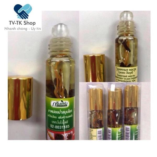 Dầu Gió Lăn Thảo Dược Thái Lan Green Herb (Mẫu mới) nhập khẩu
