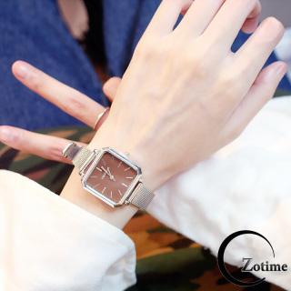 Đồng hồ nam nữ đeo tay thông minh dây lưới mặt vuông cực đẹp ZO39 thumbnail