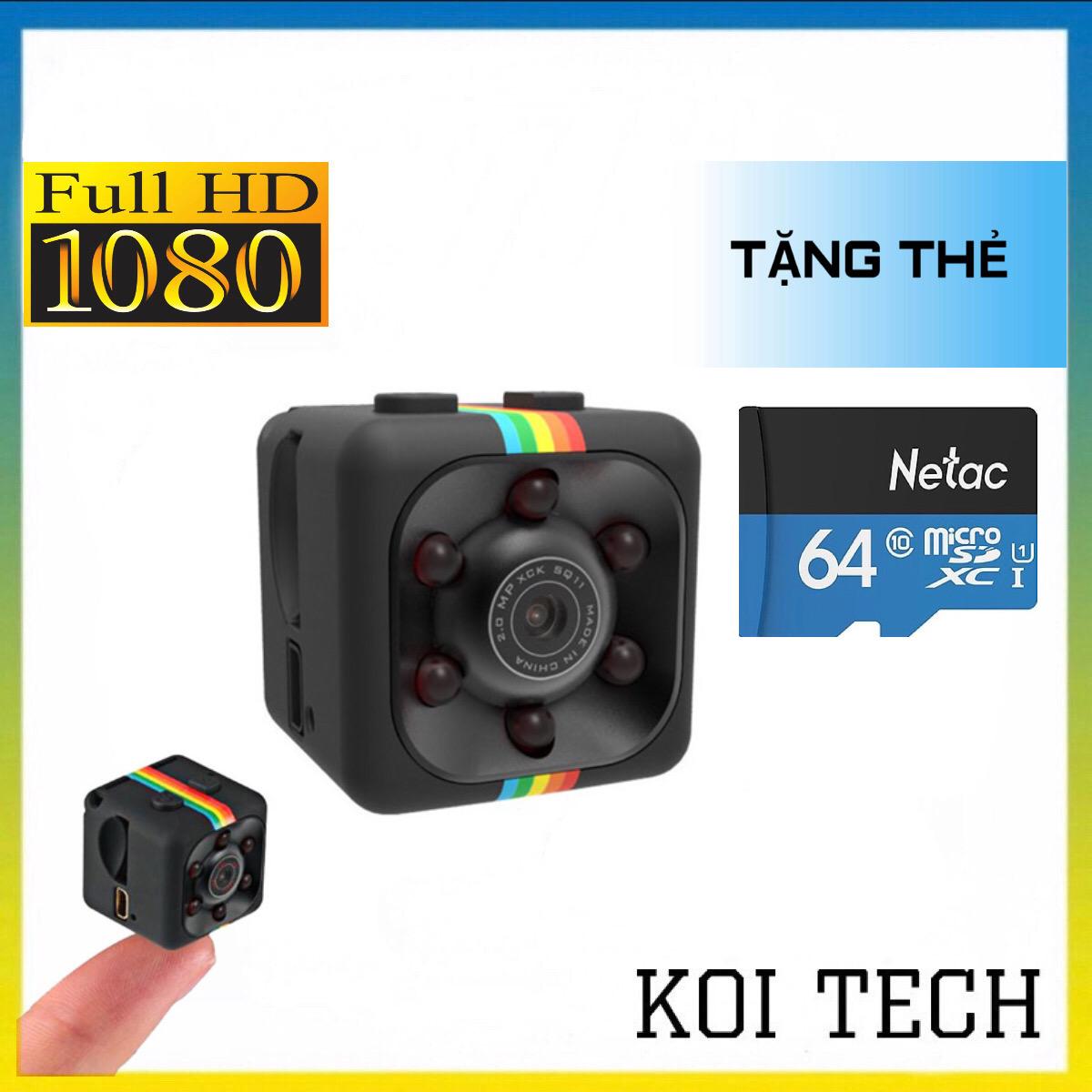 [TẶNG THẺ NHỚ 64GB] Camera mini siêu nhỏ bé hành trình xe máy phượt – camera sq11 full hd 1080p chống rung chống nước