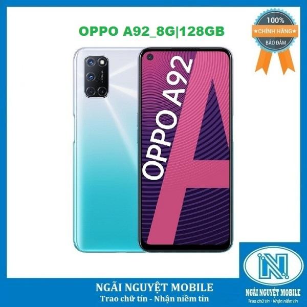 Điện thoại OPPO A92 RAM 8G ROM 128GB, Màn hình: TFT LCD, 6.5, Full HD+, Hệ điều hành: Android 10, CPU: Snapdragon 665 8 nhân, Pin : 5000 mAh, Bảo hành chính hãng 12 tháng. – Hàng chính hãng