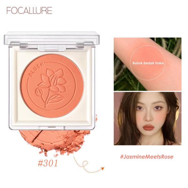 Phấn má hồng FOCALLURE sắc tố cao màu tự nhiên mềm và mịn bền màu lâu trôi dễ sử dụng không bết dính 3.7g
