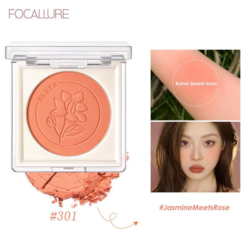 Phấn má hồng FOCALLURE sắc tố cao màu tự nhiên mềm và mịn bền màu lâu trôi dễ sử dụng không bết dính 3.7g giá rẻ