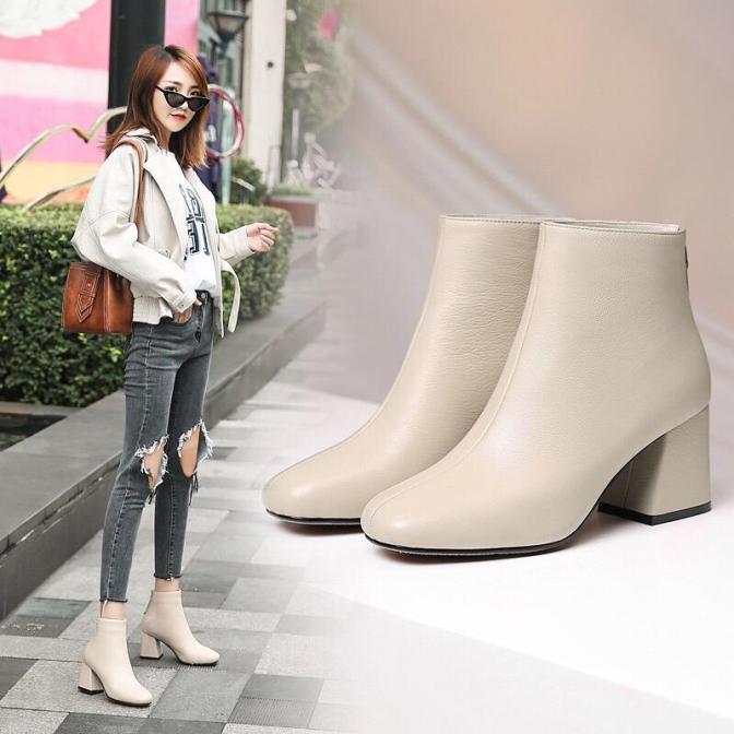 giày bốt da nữ công sở giá rẻ