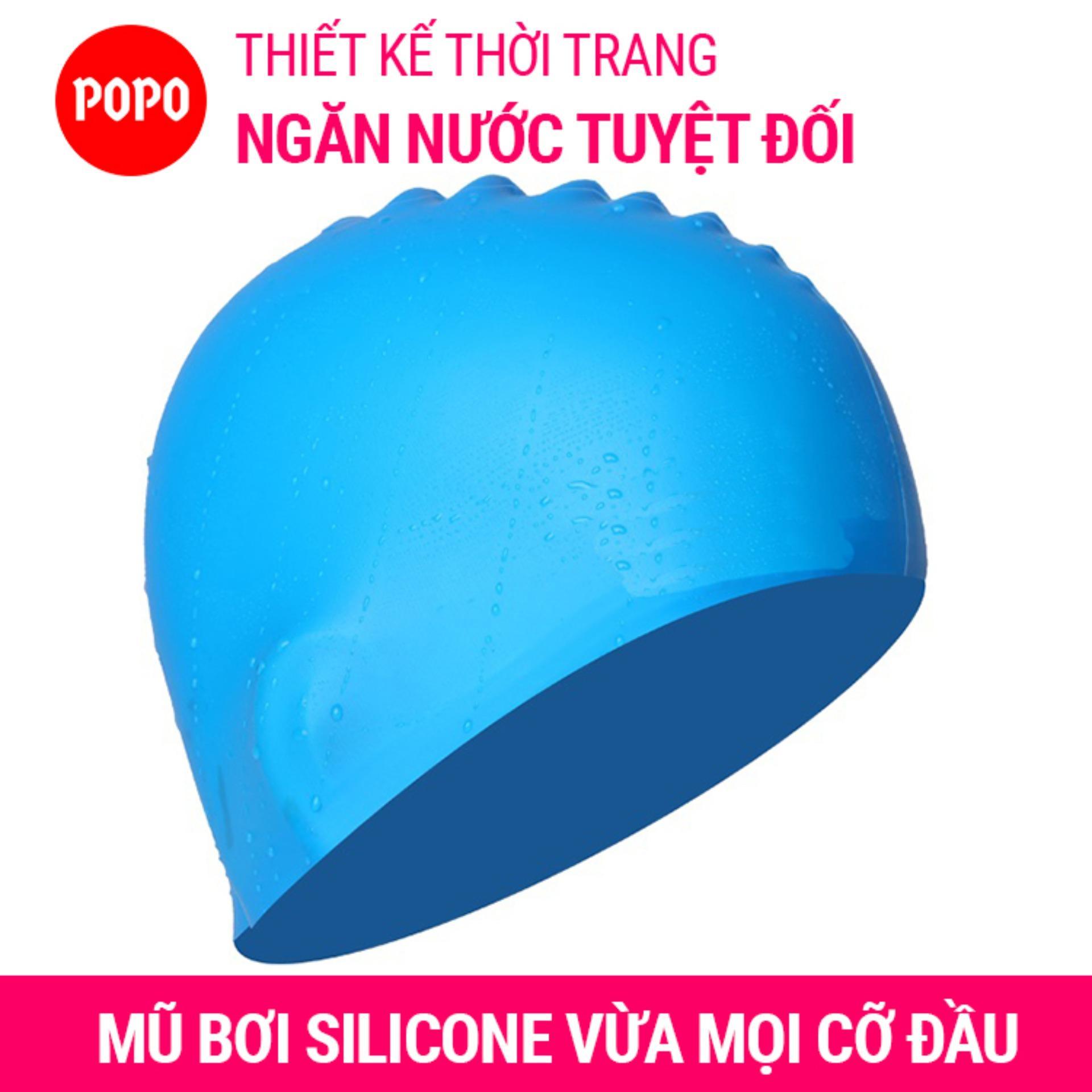 Nón bơi mũ bơi trơn silicone chống thống nước cao cấp CA31 POPO Collection - 6