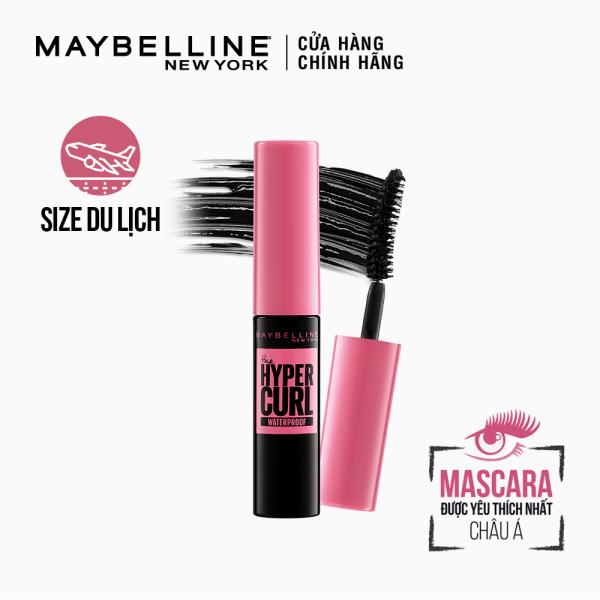[Quà Tặng Không Bán] Mascara Dài Mi và Cong Mi Maybelline New York Hyper Curl Waterproof Chuốt Mi Đen Không Lem Không Trôi Mini 4.5ml giá rẻ
