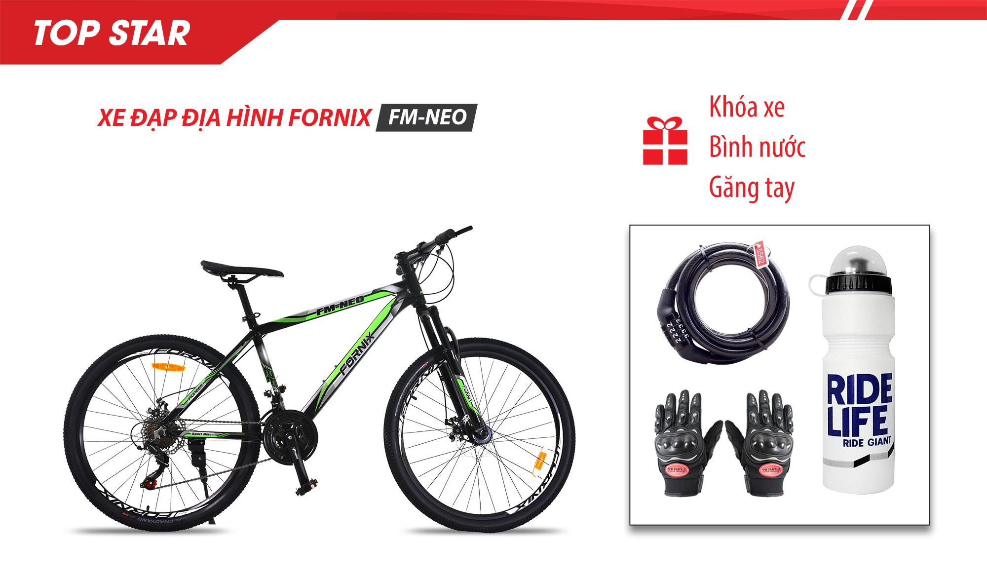 Mua Xe đạp địa hình thể thao FM26- NEO, vòng bánh 26 - Bảo hành 12 tháng + (gift) Găng tay, Bình nước, Khóa xe cao cấp