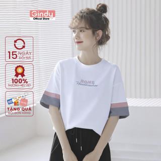 [ FULL SIZE + HÌNH THẬT ] Áo thun phông nữ tay lỡ GINDY ROME form vừa phong cách Unisex thời trang năng động A6141 thumbnail