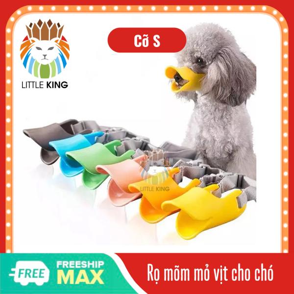 Rọ mõm cho chó hình mỏ vịt cỡ S nhiều màu sắc, chất liệu TPR an toàn Little King pet shop