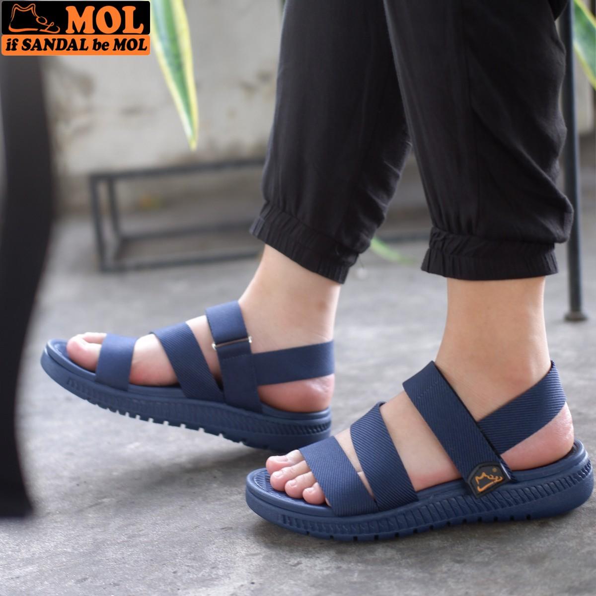 Giày sandal học sinh nam công nghệ siêu nhẹ hiệu MOL MS2