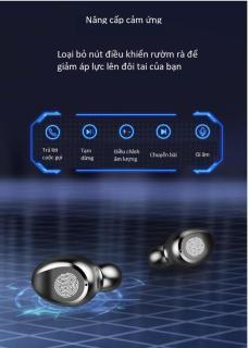 Tai Nghe Bluetooth Amoi F9 Bản Pro Quốc Tế Chip 5.0 , Chống Nước , Nút Cảm Ứng - Tai Nghe Bluetooth Amoi F9, Tai Nghe Bluetooth Nhét Tai Cho mọi dòng máy - Tai nghe buetooth không dây 3