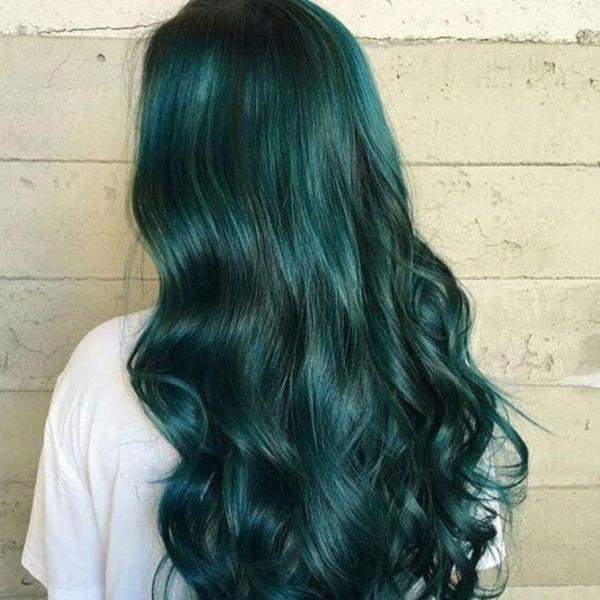 ( Không Tẩy ) Thuốc nhuộm tóc màu Xanh Lá (kèm oxi và găng tay)