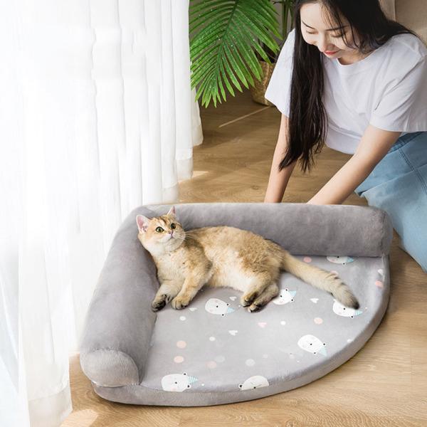 Giường nệm góc tư mùa đông ấm áp cho chó mèo GN001