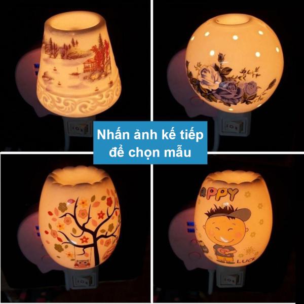 Đèn xông tinh dầu Đèn trang trí phòng ngủ cắm điện Tặng Tinh Dầu đuổi diệt muỗi khử mùi thơm phòng tinh dau tinhdau duoi muoi duoimuoi den xong denxong