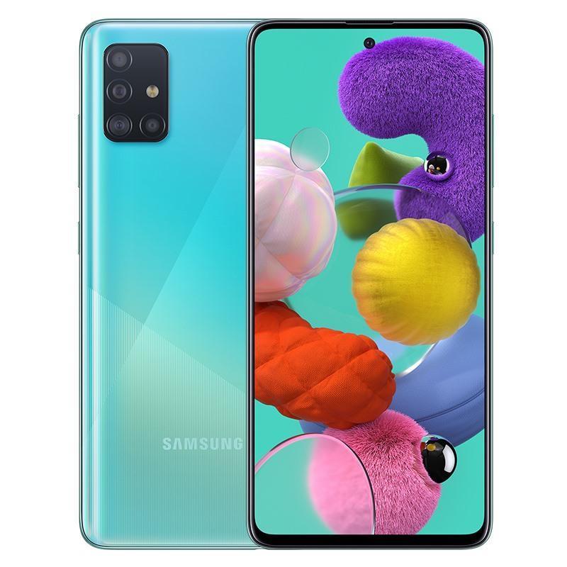 Điện thoại Samsung Galaxy A51 6GB/128GB chính hãng, nguyên seal, mới 100%, Màn hình vô cực 6.5 inch Infinity-O chuẩn FHD+ Bộ 4 Camera sau 48MP+5MP+12MP+5MP ấn tượng + Pin 4,000mAH -