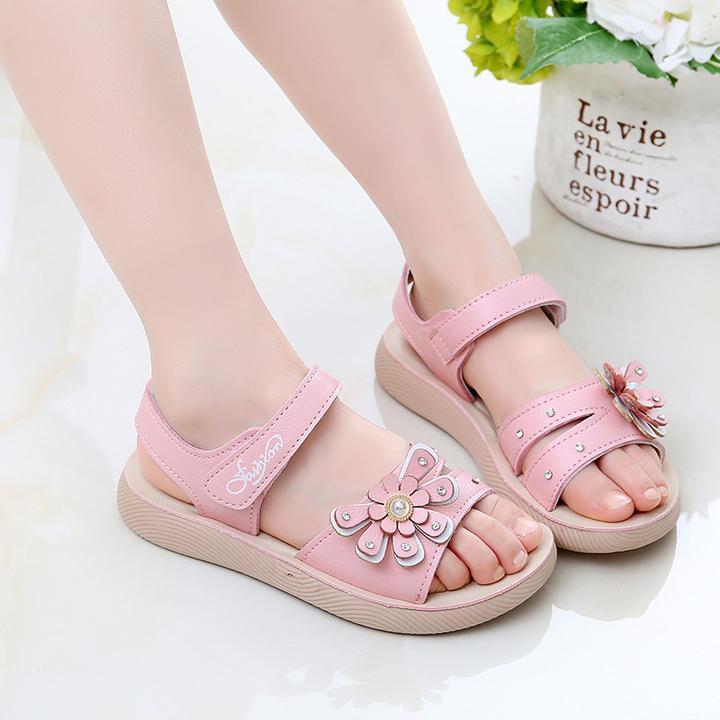 Giá bán Dép sandal cho bé gái công chúa dành cho bé từ 3 -12 tuổi D07