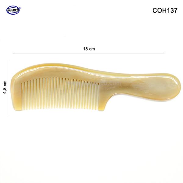 Lược sừng xuất Nhật (Size: L - 18cm) Mẫu lược trơn phổ thông [COH137] HAHANCO /Chăm sóc tóc