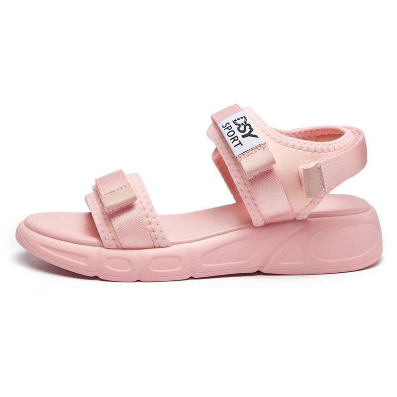 Dép sandal nữ quai ngang chữ Sport siêu nhẹ đi cực êm chân - giày sandal nữ, sandal đi học, sandal hàn quốc, sandal đế bệt, sandal đế bánh mì, sandal đế bằng, sandal 3 quai, màu đen trắng hồng, sandal nu dep di hoc giá rẻ